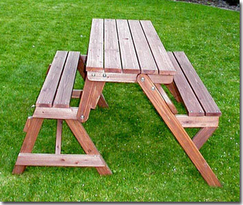 holzbank tisch sitzgarnitur picknickbank kombibank ebay. Black Bedroom Furniture Sets. Home Design Ideas