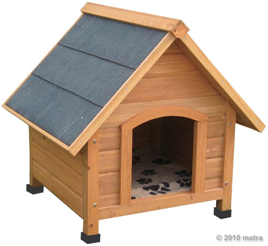 hundeh tte hundehaus massiv holz wetterfest 70cm hoch ebay. Black Bedroom Furniture Sets. Home Design Ideas