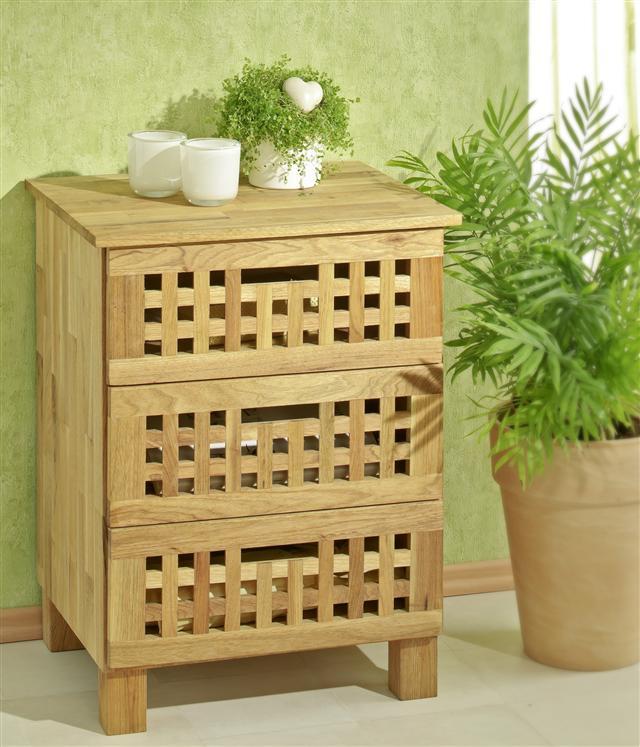 schr nkchen mit 3 schubladen aus walnussholz schrank kommode ebay. Black Bedroom Furniture Sets. Home Design Ideas