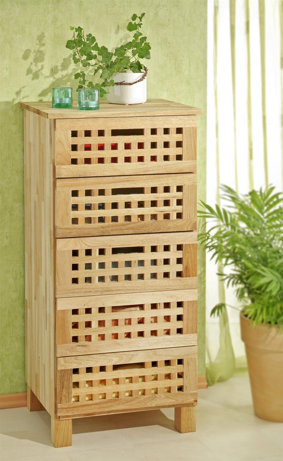 schrank mit 5 schubladen aus walnusholz kommode aus holz ebay. Black Bedroom Furniture Sets. Home Design Ideas
