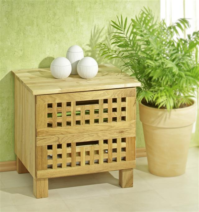 kommode mit 2 schubladen gitterdesign walnussholz schrank ebay. Black Bedroom Furniture Sets. Home Design Ideas