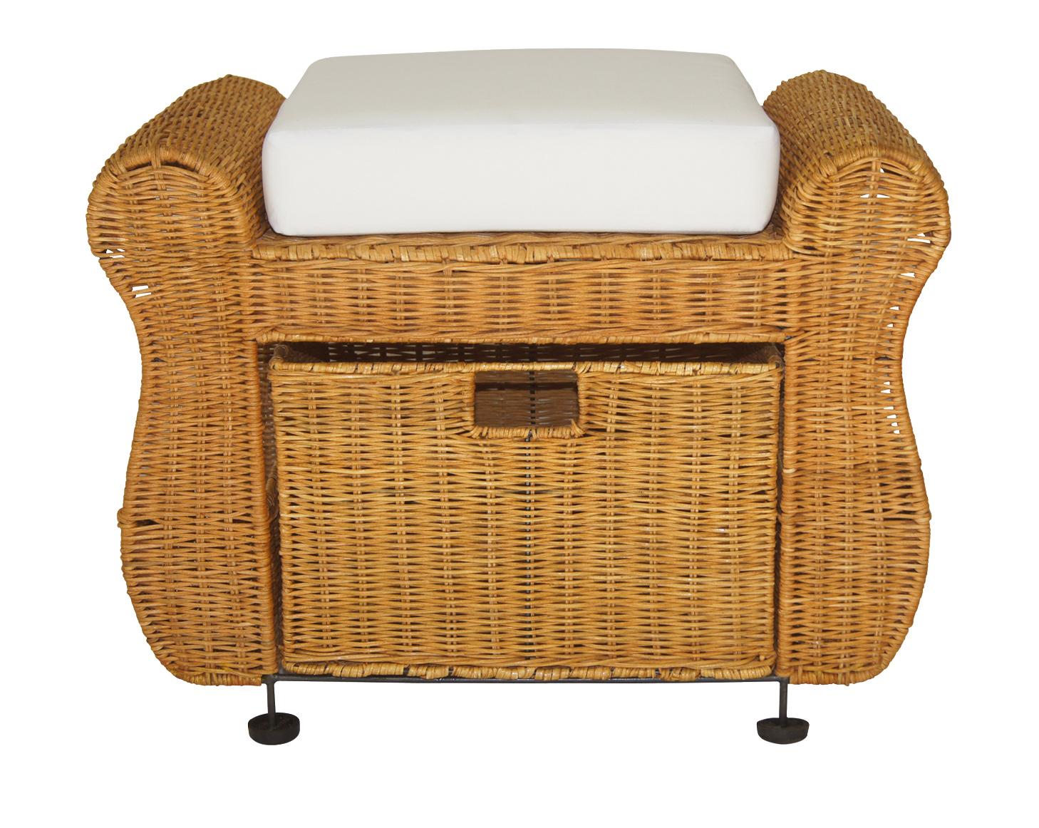 rattanhocker weidenhocker staufach zeitungsst nder aus. Black Bedroom Furniture Sets. Home Design Ideas