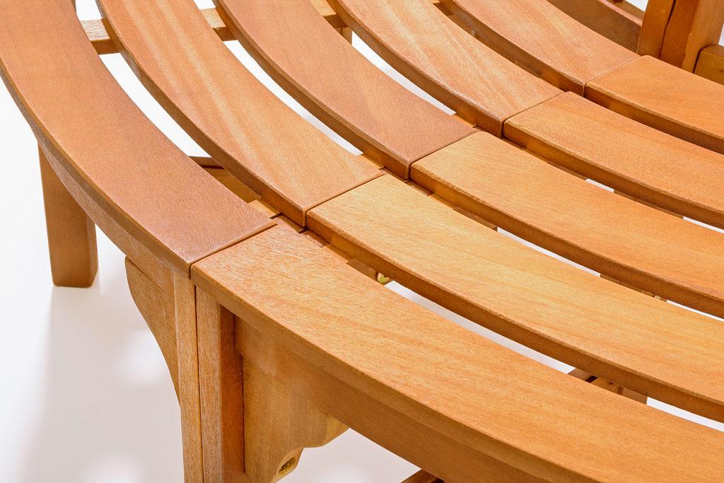 rundbank baumbank aus bangkirai hartholz gartenm bel sitzgruppe gartenbank bank ebay. Black Bedroom Furniture Sets. Home Design Ideas