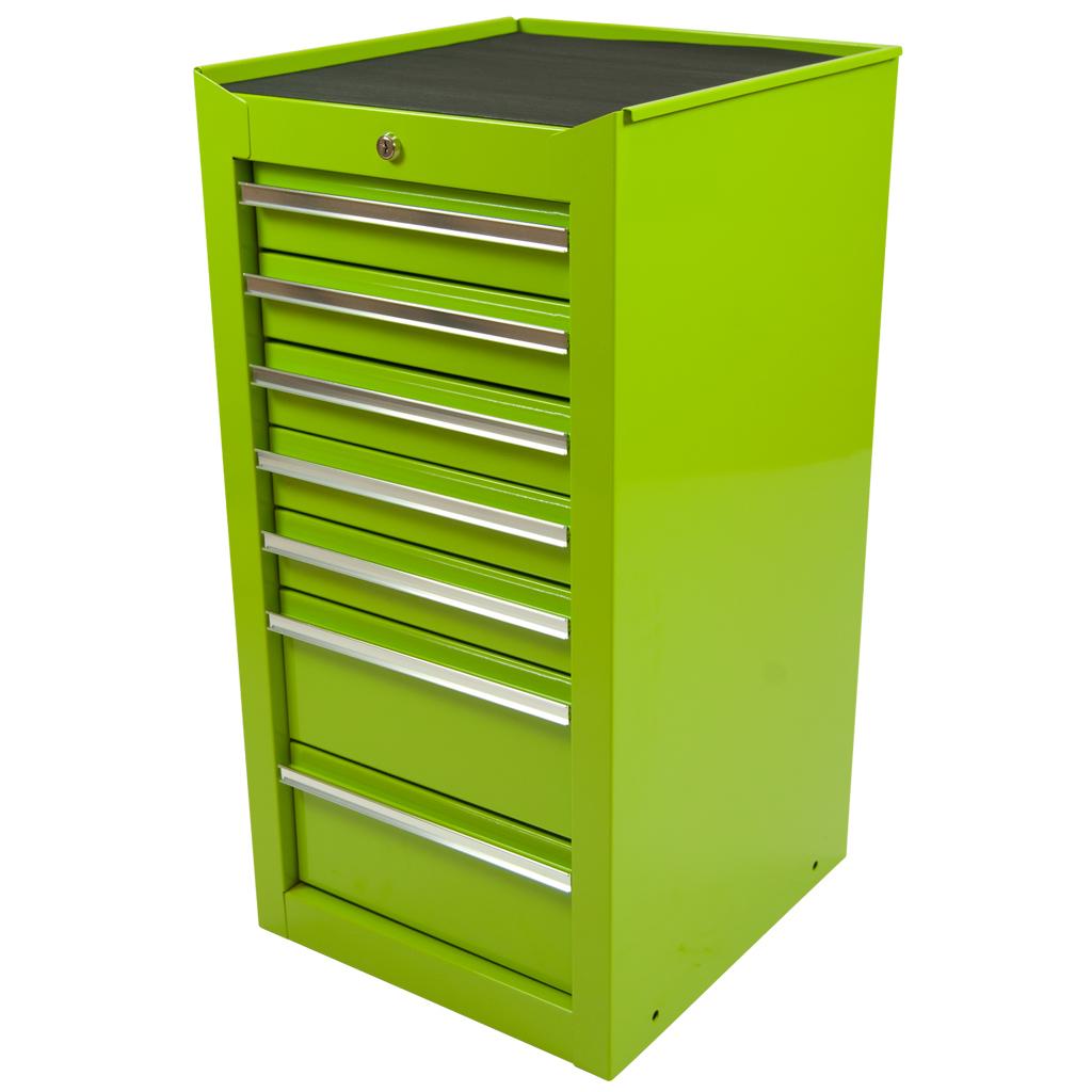 werkzeugschrank mit 7 schubladen gr n schubladenschrank werkstattschrank neu ebay. Black Bedroom Furniture Sets. Home Design Ideas
