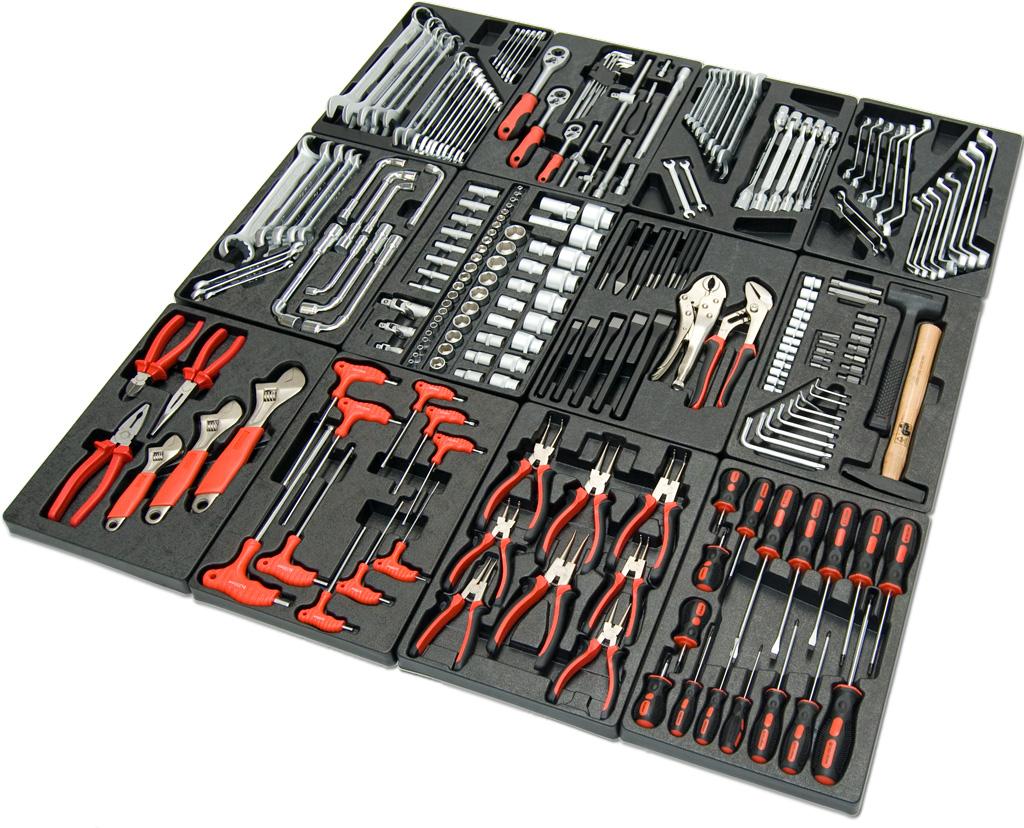 werkstattwagen 7 schubladen einzelverriegelt gr n mit werkzeug werkzeugwagen. Black Bedroom Furniture Sets. Home Design Ideas