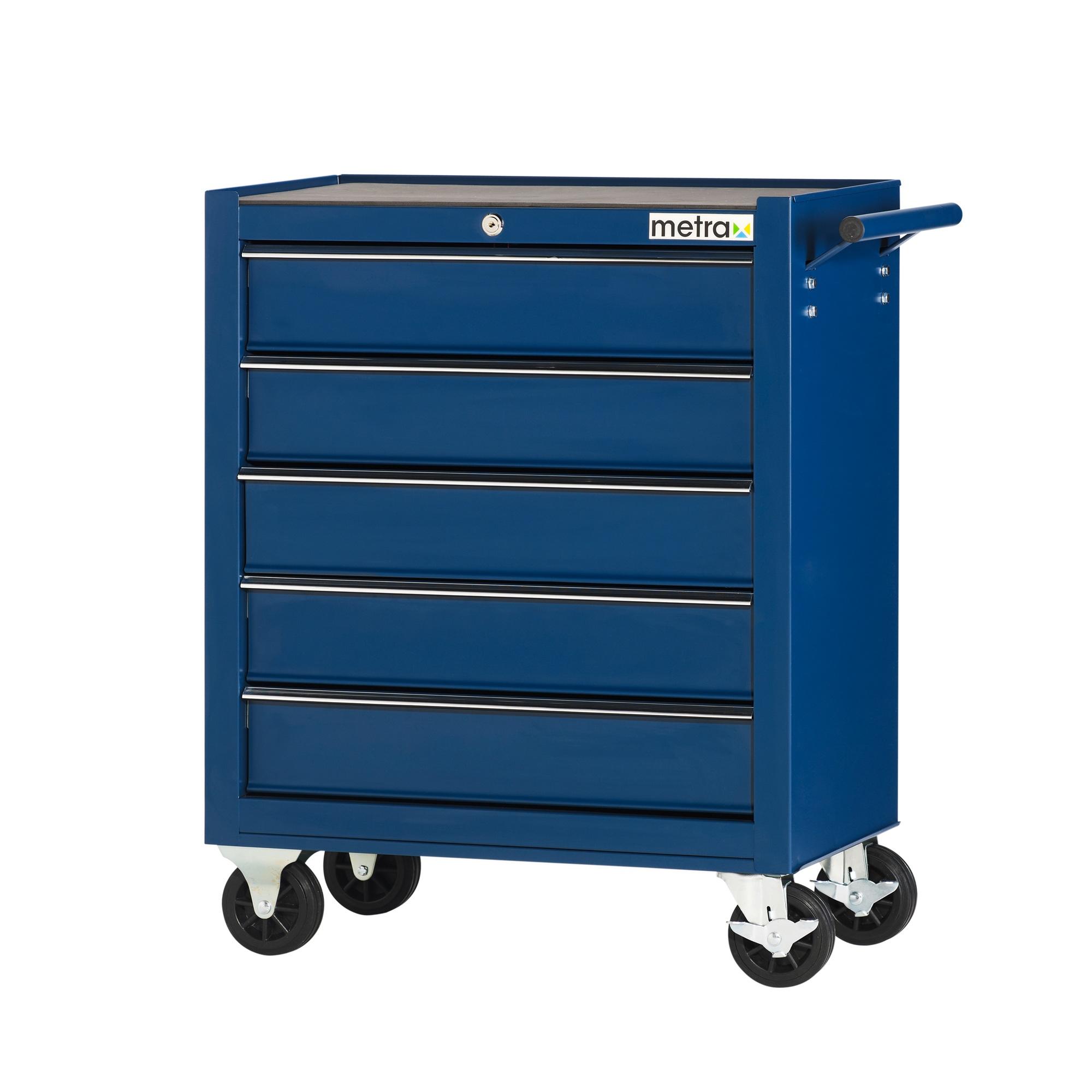 werkstattwagen 5 schubladen leichtbau werkzeugwagen f r die werkstatt blau ebay. Black Bedroom Furniture Sets. Home Design Ideas