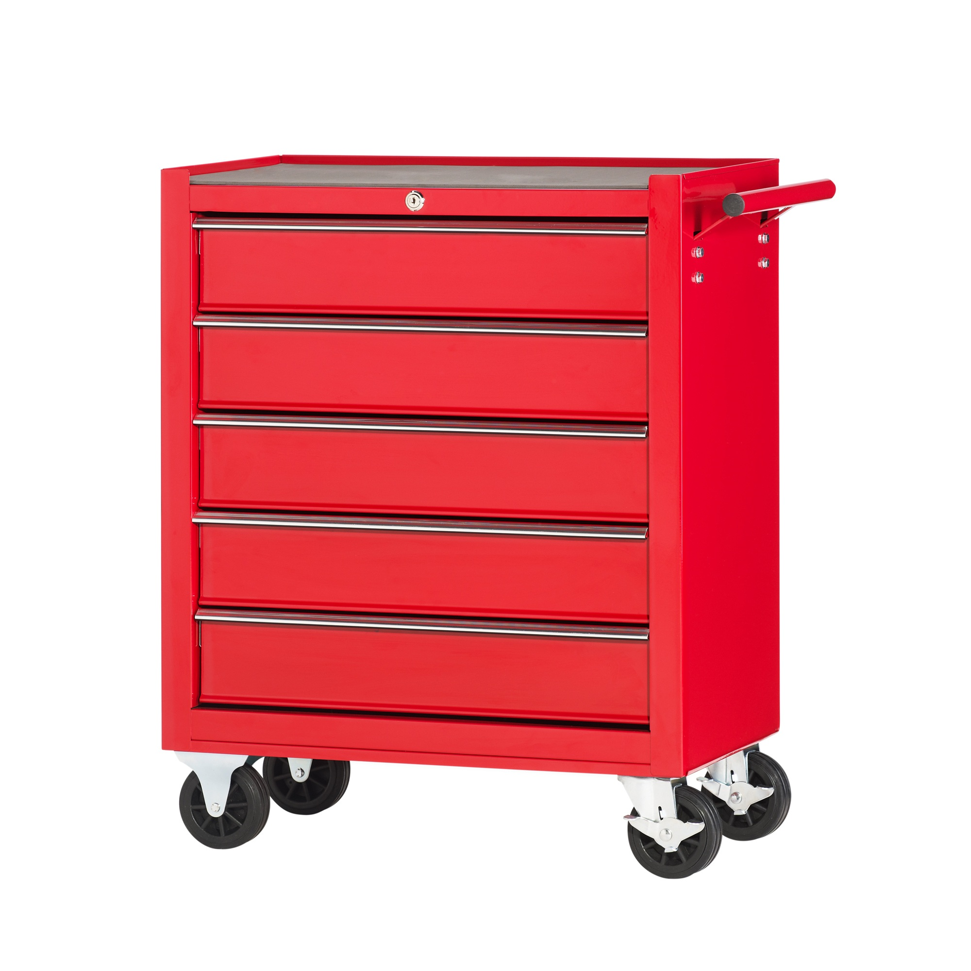 werkstattwagen 5 schubladen leichtbau werkzeugwagen f r die werkstatt rot ebay. Black Bedroom Furniture Sets. Home Design Ideas