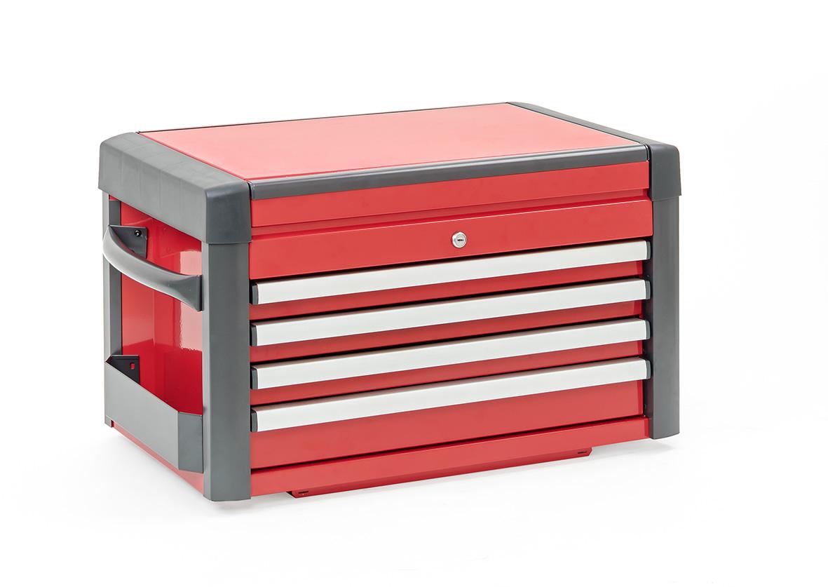 werkzeugkiste aufsatz rot schwarz 4 schubladen serie 98 werkzeugkasten ebay. Black Bedroom Furniture Sets. Home Design Ideas