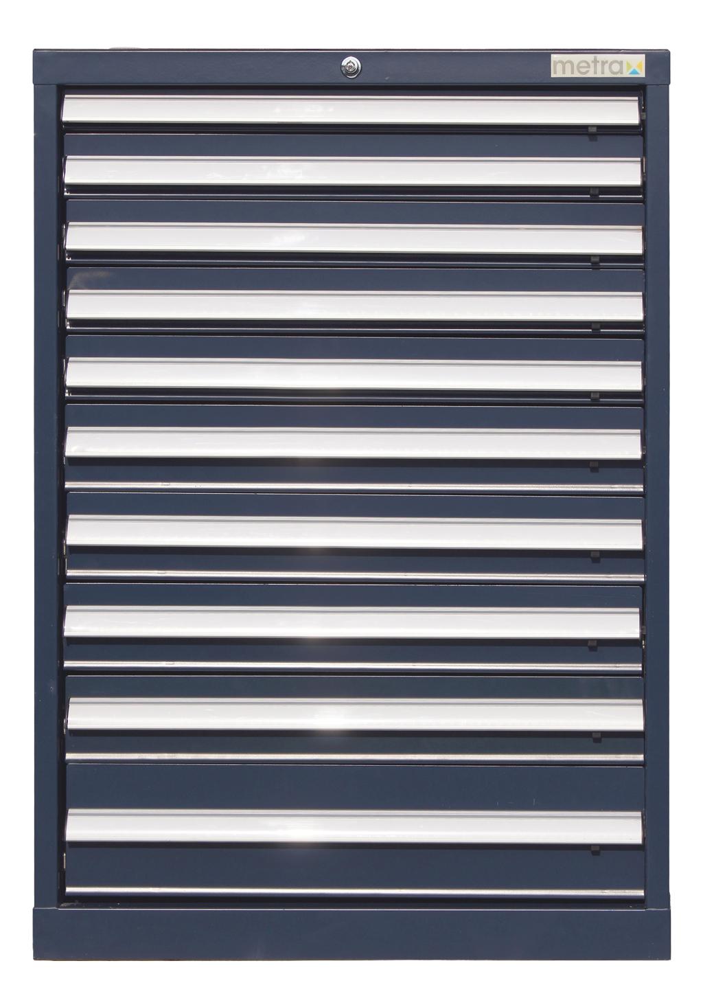 Werkzeugschrank mit 10 Schubladen, blau, Schubladenschrank ...