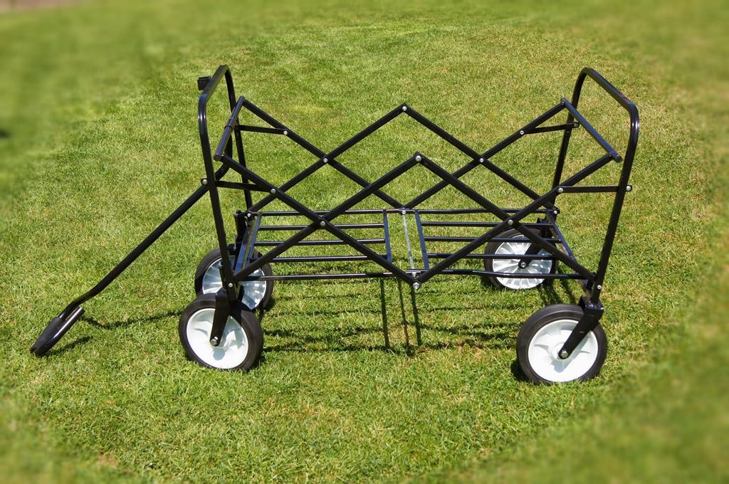 bollerwagen klappbar handwagen faltbar transportwagen strandwagen rot ebay. Black Bedroom Furniture Sets. Home Design Ideas